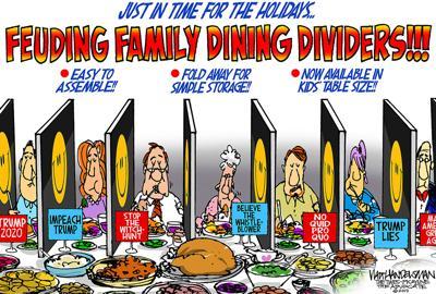 Walt Handelsman: Feuding Family Dining Dividers!!