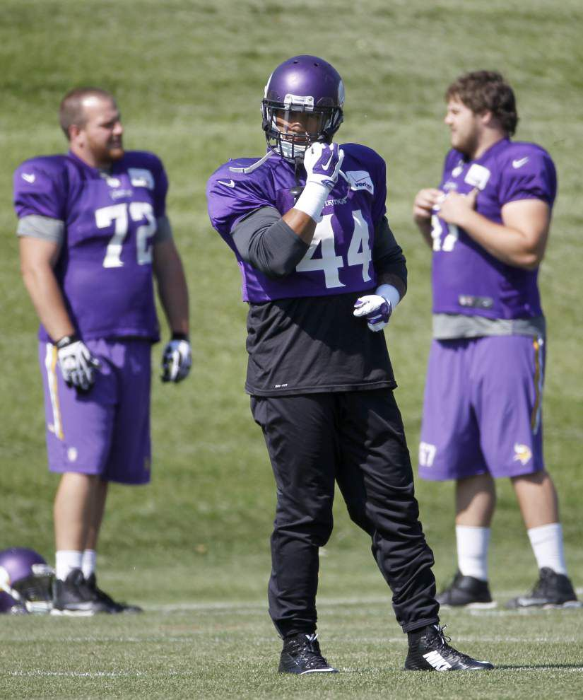 Peterson's absence tough but real for Vikings _lowres