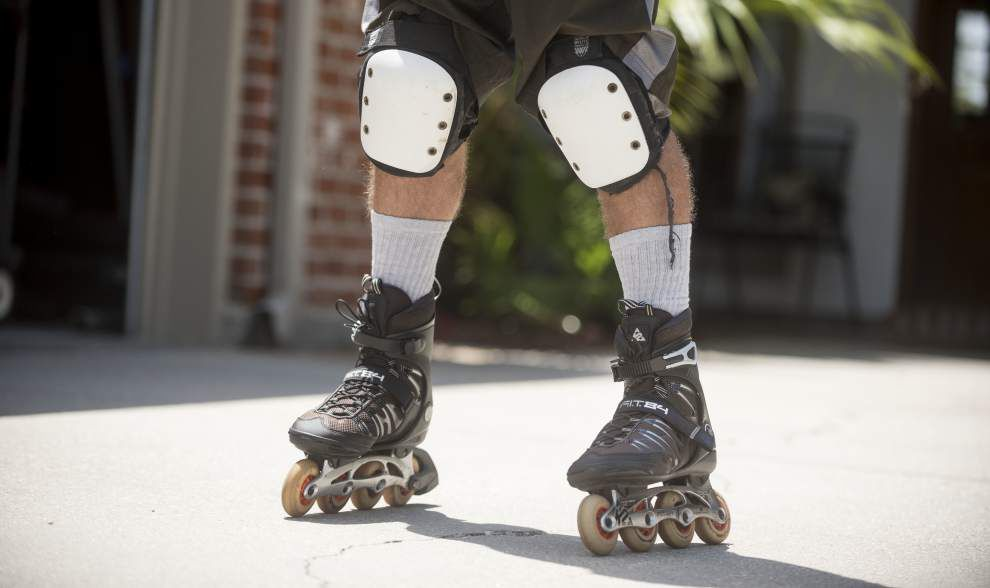 Still on a roll: Baton Rouge man continues to skate miles a day despite age, eyesight _lowres