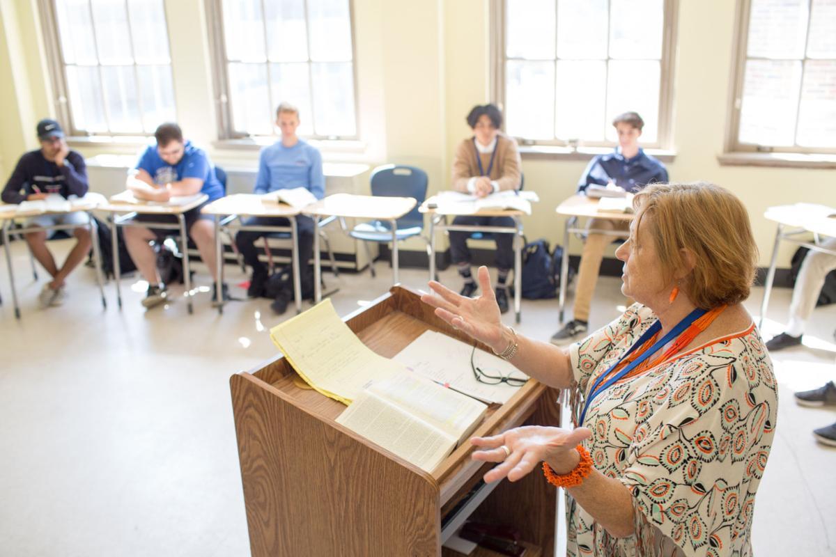 Associate Lecturer of English Pamela Francis leads students.jpg