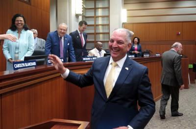 Gov. John Bel Edwards visits board of regents 082218