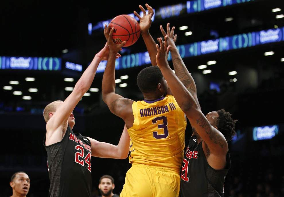 Step up in competition in New York tripped LSU men's basketball team, exposing room for improvement _lowres
