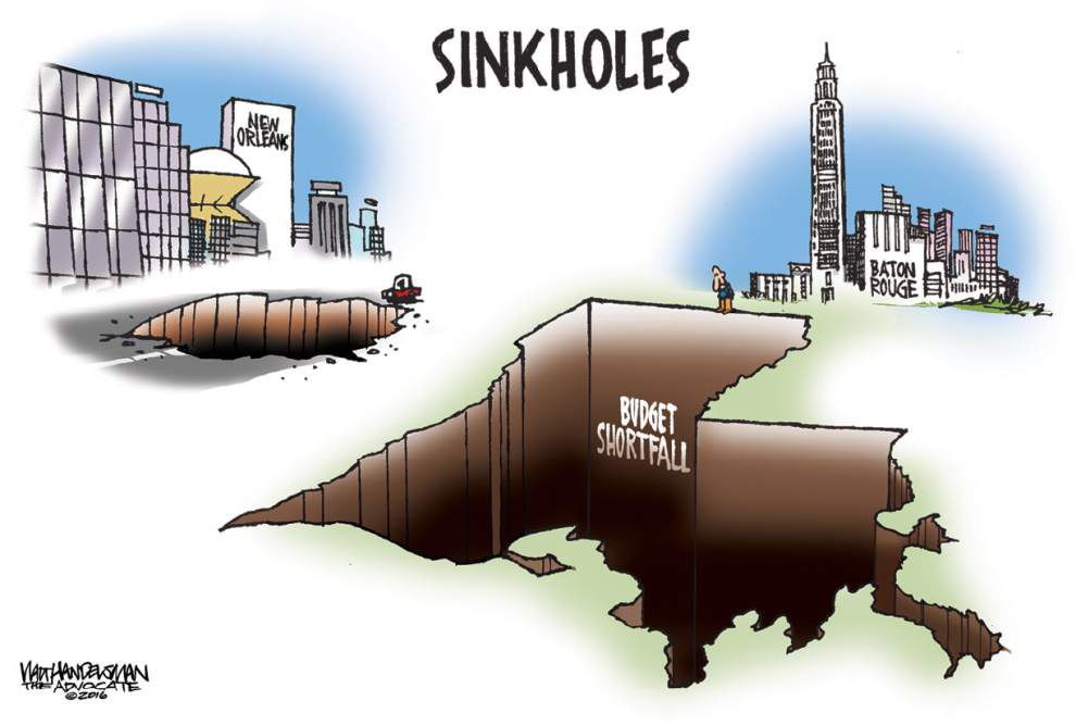 Walt Handelsman: New Orleans and Baton Rouge have some deep problems _lowres