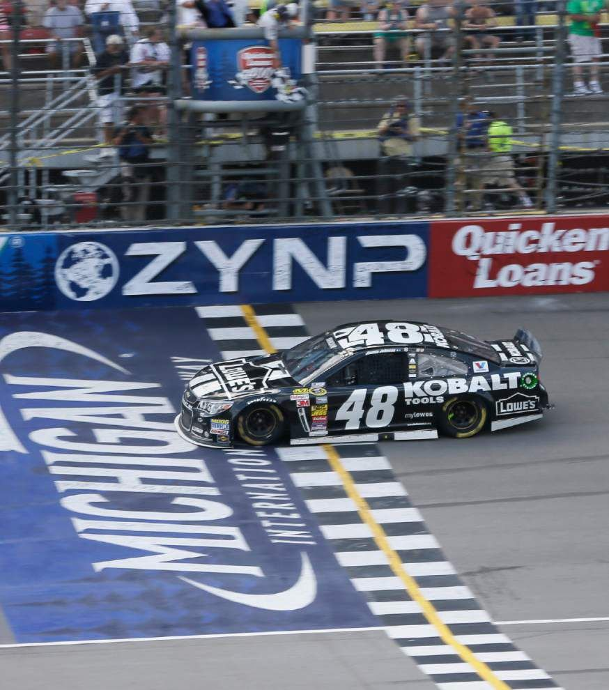 Jimmie Johnson finally wins at Michigan _lowres