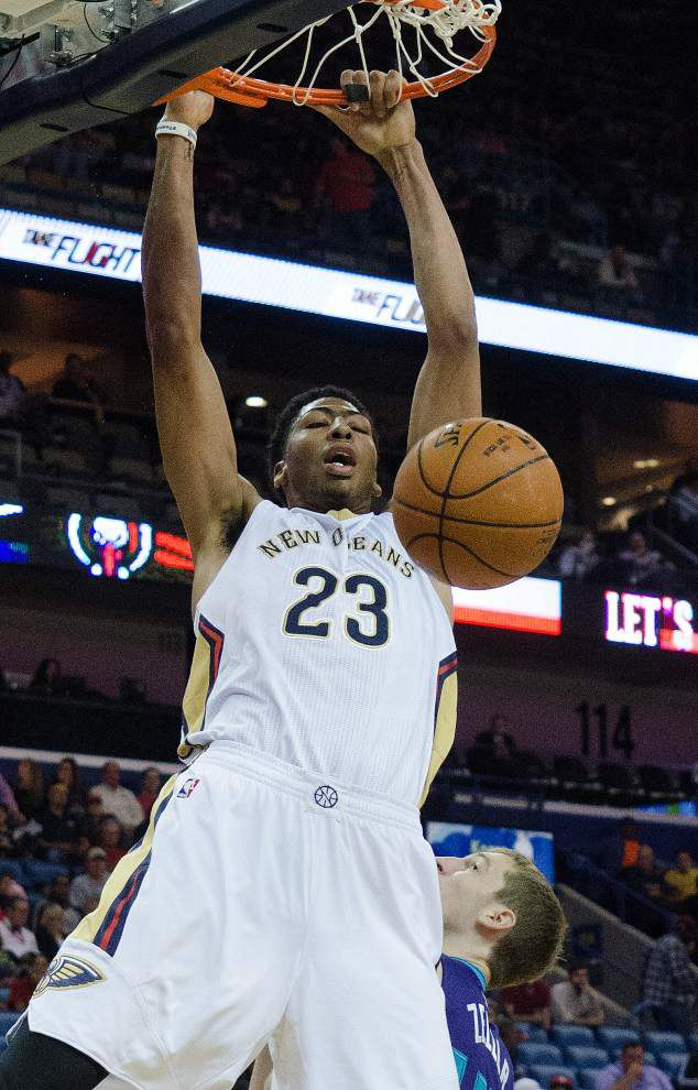Anthony Davis, Pelicans hammer Hornets _lowres