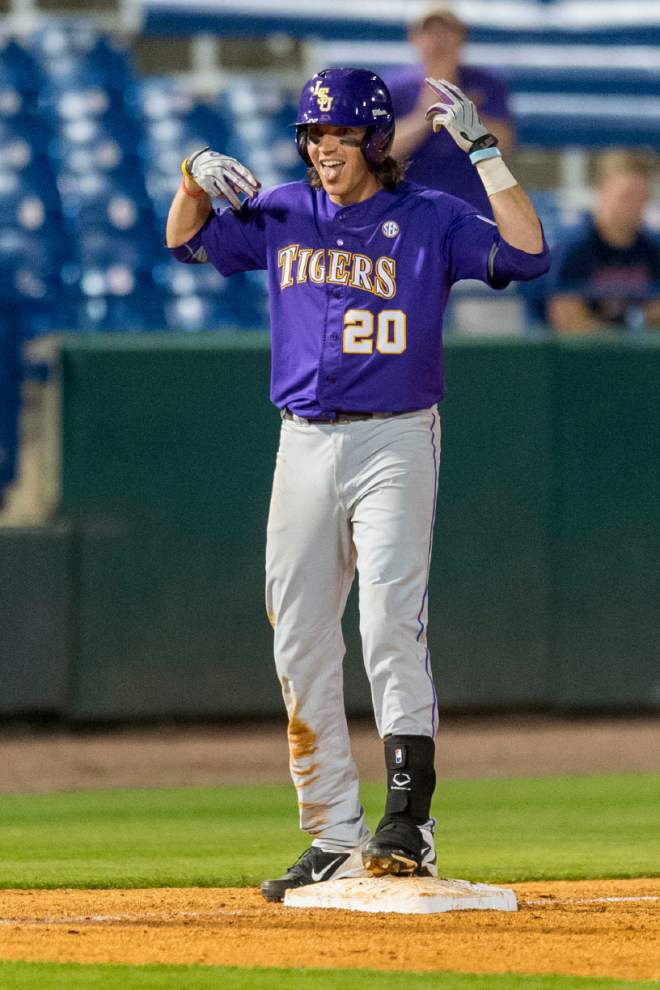 LSU blows 3 saves but survives 'crazy' 16-inning game in 8-5 win over Alabama; see video of Beau Jordan's game-saving play _lowres