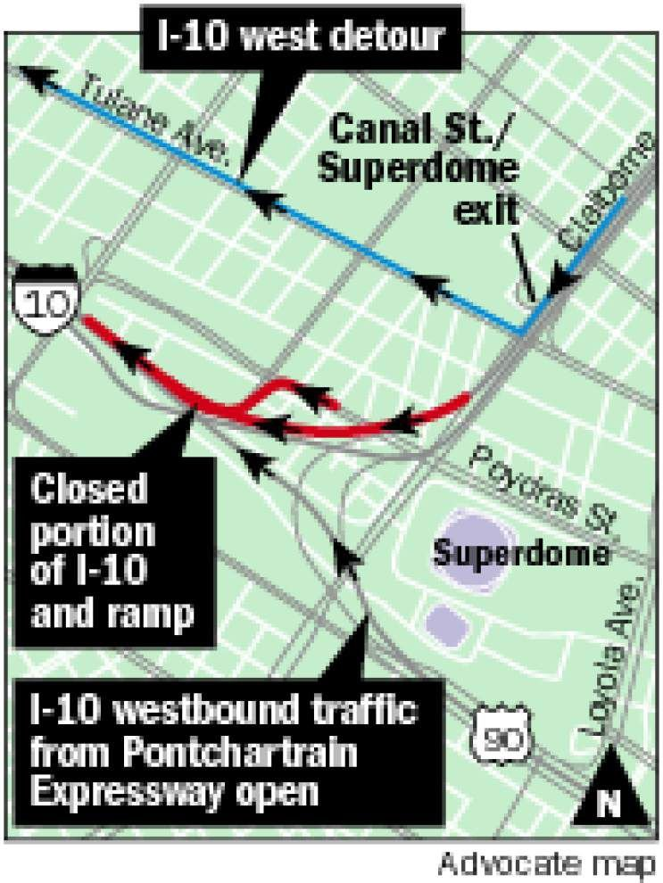 The Louisiana Department of Transportation to close part of westbound I-10 this weekend _lowres