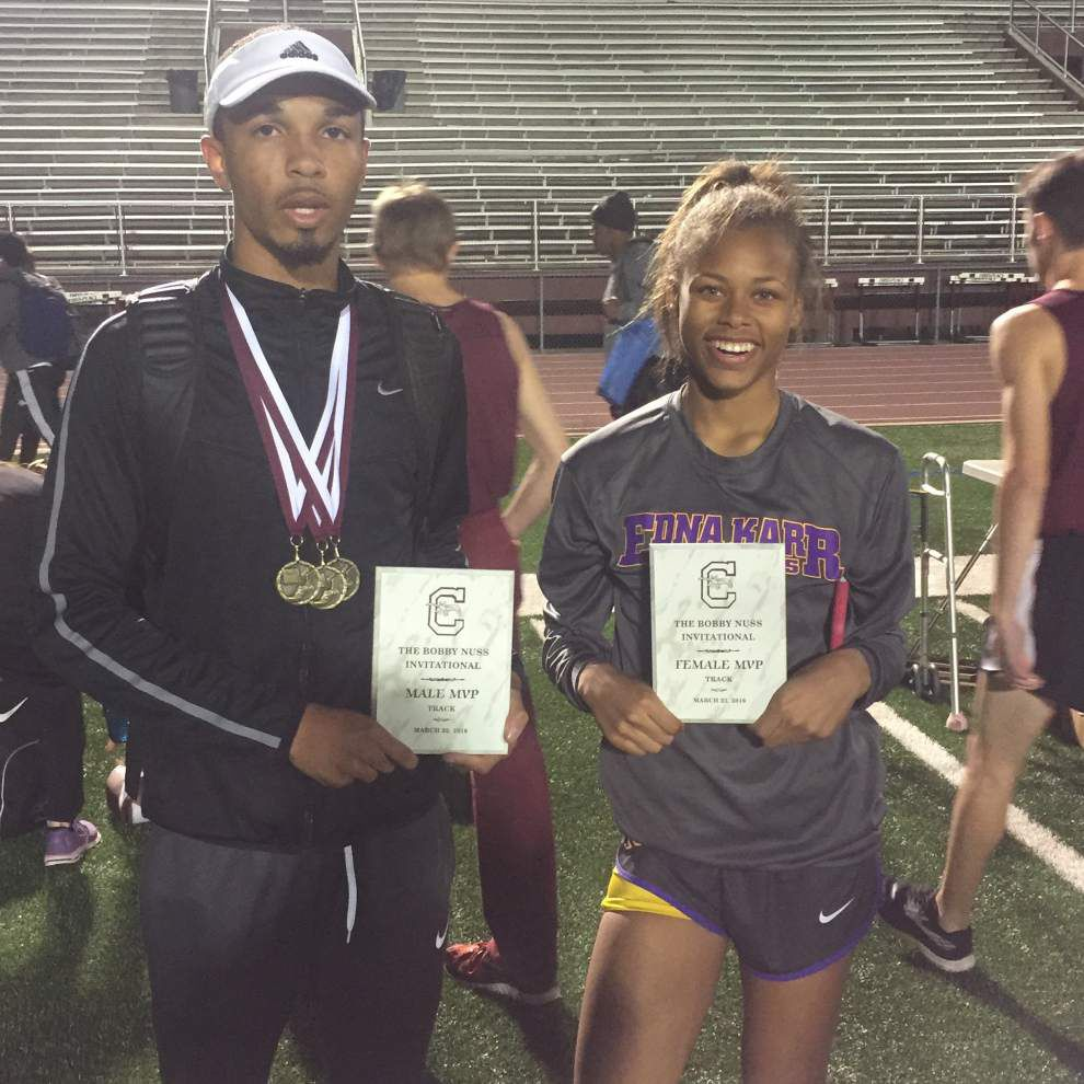Karr boys tied St. Thomas Aquinas for title at Chalmette meet; Karr girls team finishes second _lowres