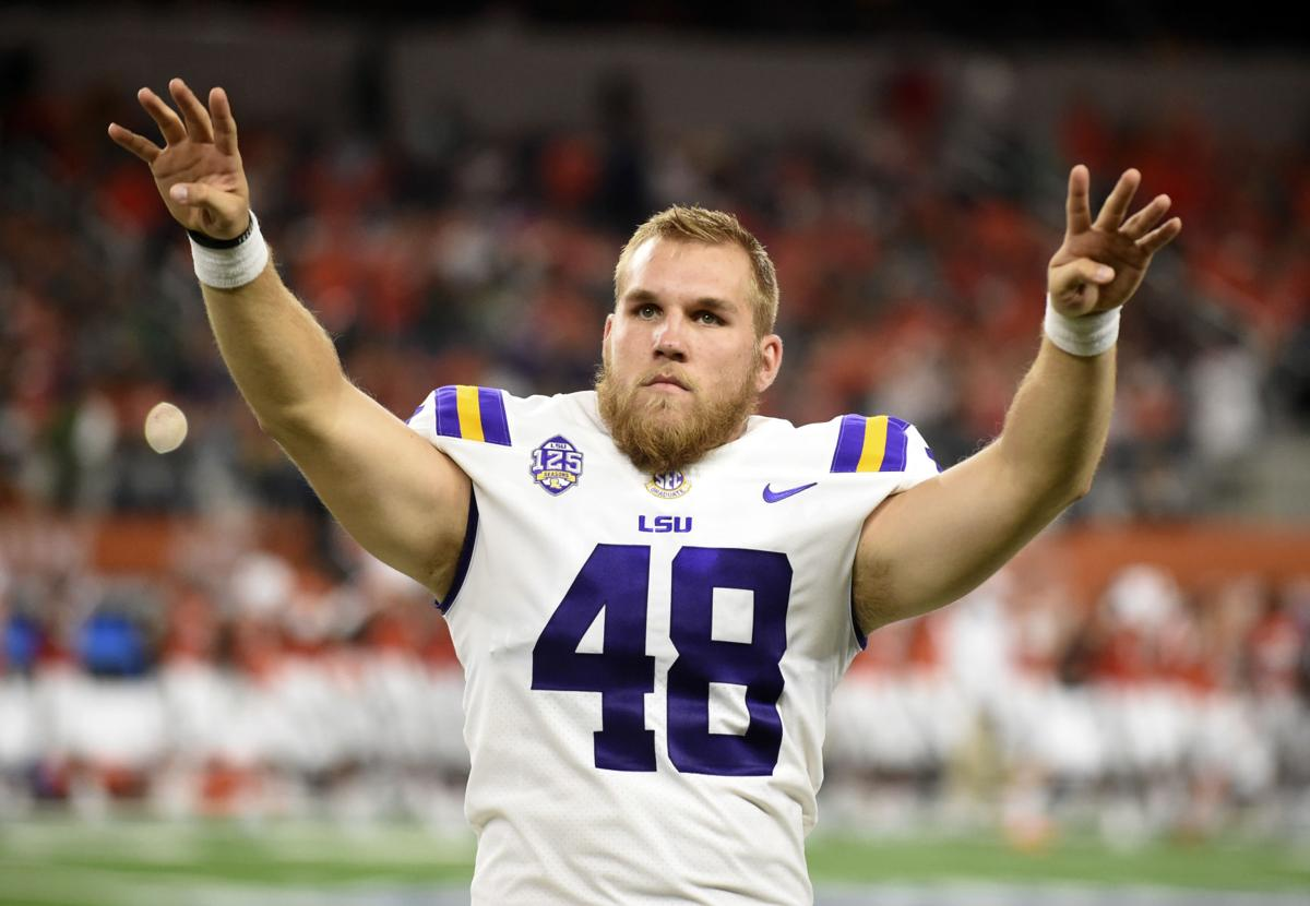 LSU long snapper Blake Ferguson hits drills at NFL Combine; see ...