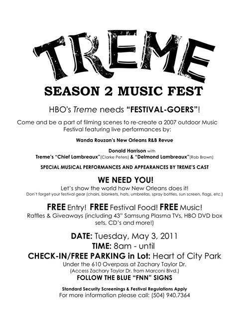 Treme needs you for Fake Jazz Fest_lowres