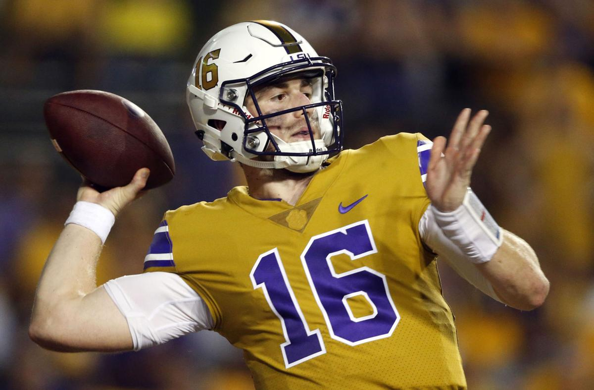 lsu u0027s danny etling idolized drew brees outworks everyone u2014 so why