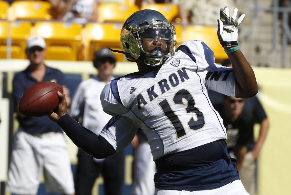 Akron plans to start quarterback Tommy Woodson against Ragin' Cajuns _lowres