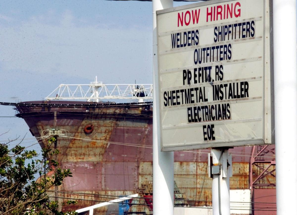Ship under construction at Avondale Shipyards... 02/09/04