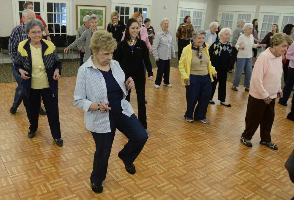 Best lesson ever: LSU's Golden Girls teach St. James Place residents to line dance _lowres