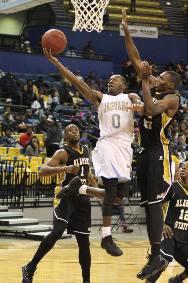 With Trelun Banks and D'Adrian Allen back in the fold, Southern men beat Alabama State 73-69 for their fifth straight win _lowres