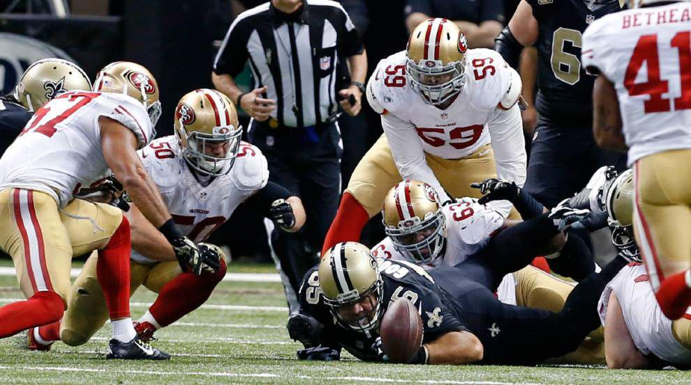 Video: New Orleans Saints quarterback Drew Brees describes what happened on his overtime fumble against 49ers _lowres