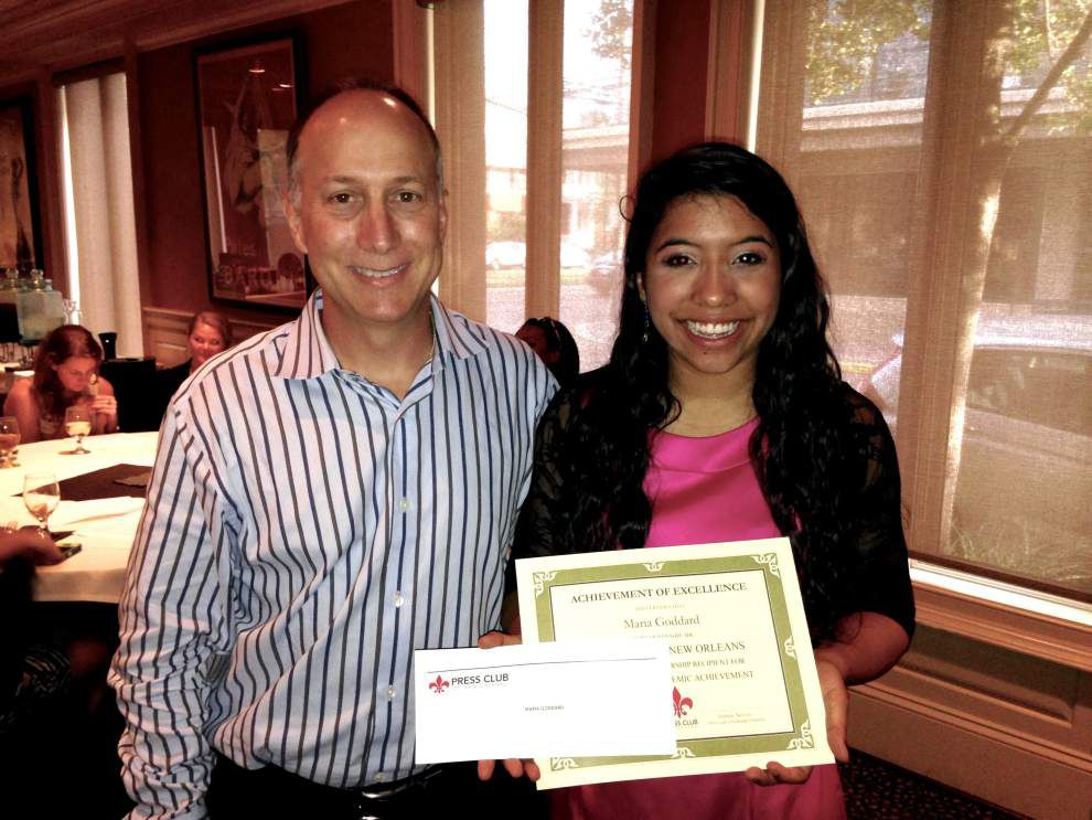 Press Club of New Orleans awards scholarships to two mass communications career hopefuls _lowres