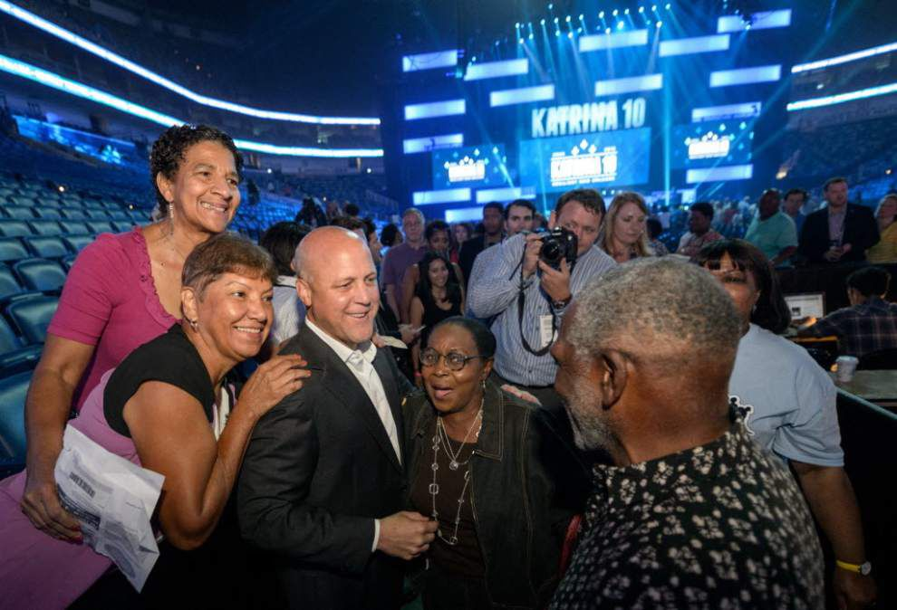 See the soulful side of Mitch Landrieu: The New Orleans Mayor sings 'I'll Fly Away' during Katrina 10 - Nola Honors _lowres