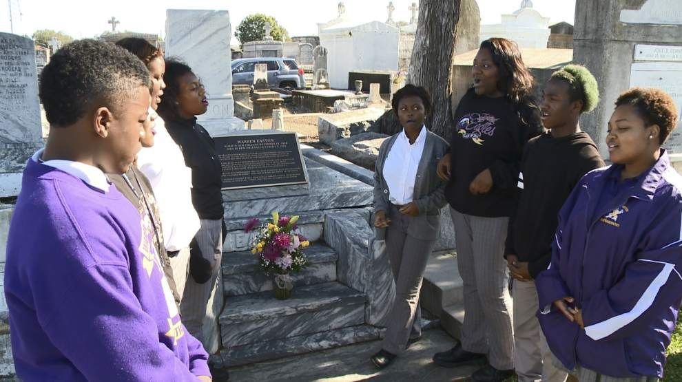 Namesake of Warren Easton High School honored on 167th birthday _lowres