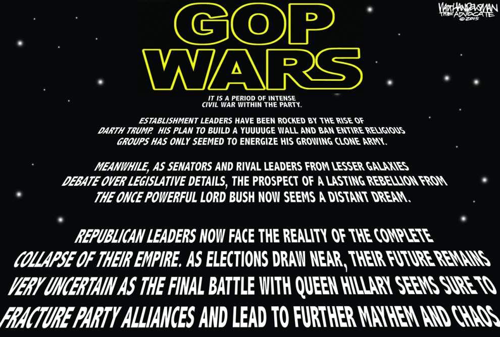 Walt Handelsman: GOP WARS _lowres