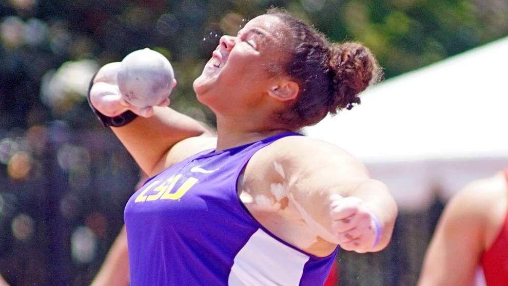 LSU sweeps meet titles as Tori Bliss sets school, stadium records in shot put _lowres