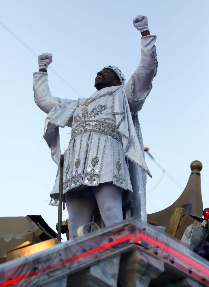 Photos: Bacchus rolls Sunday, closing out biggest Mardi Gras weekend in New Orleans _lowres