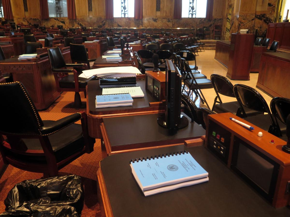 Louisiana House Chamber before special session begins