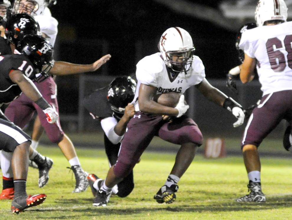 Cameron Dantzler four TDs the difference as St. Thomas Aquinas edges Brusly _lowres