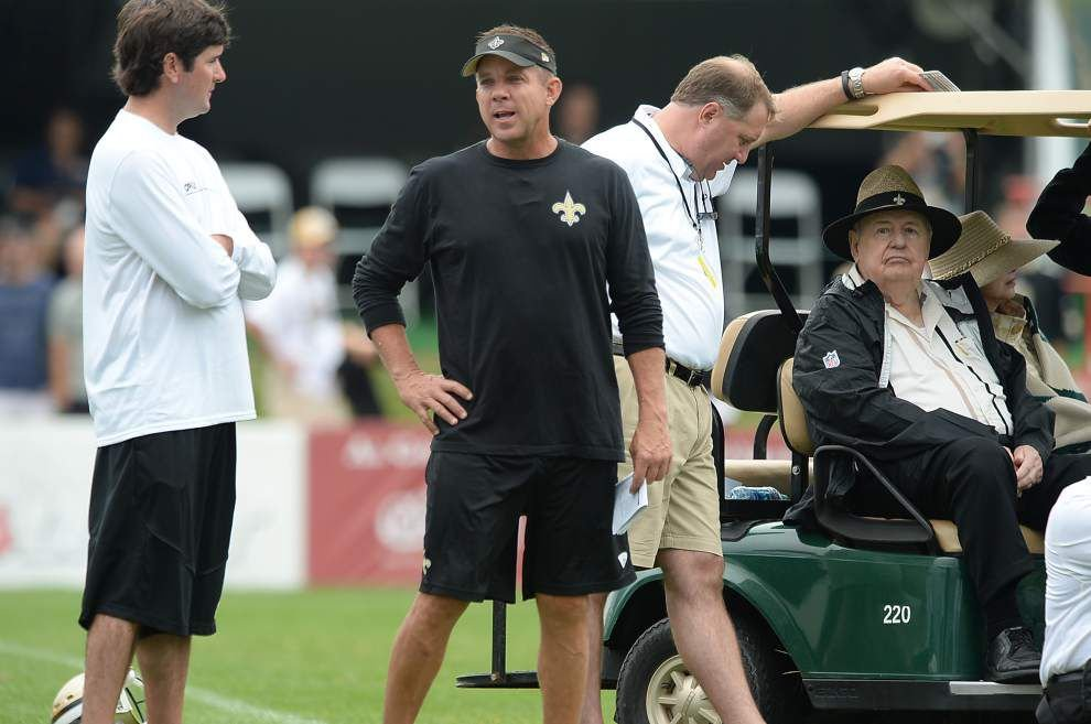 Saints camp report: Tom Benson treated after showing altitude-related symptoms _lowres