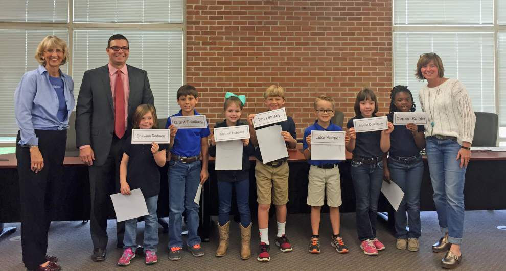 Bains students participate in mock school board meeting _lowres