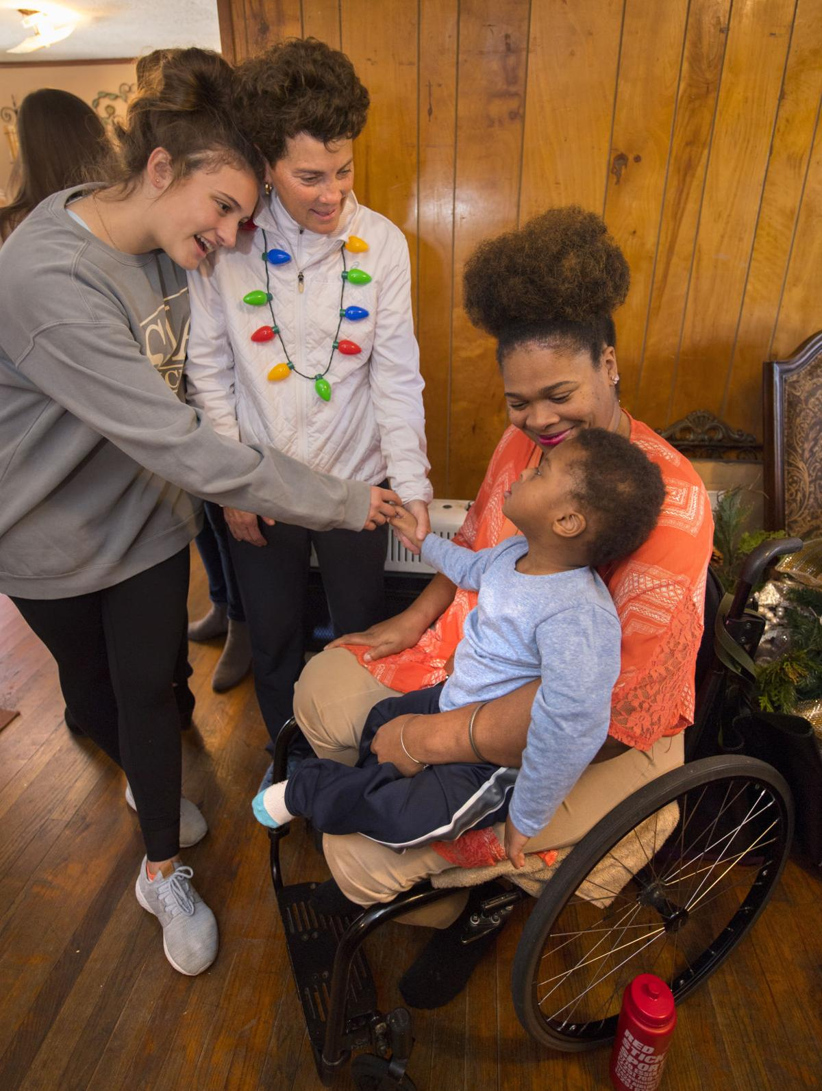 Tara High teammate reconnects with Christmas gift for woman paralyzed in 2017 domestic shooting