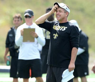 Photos: Sean Payton evaluates his team after New Orleans Saints spend the day running drills _lowres