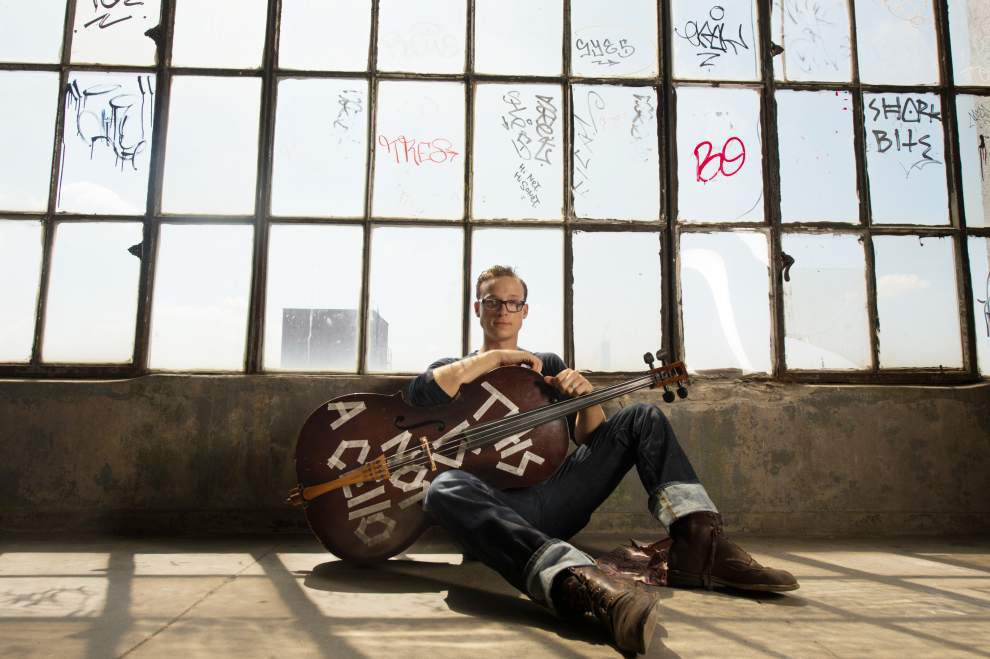Whether pedaling his bike or cruising through genres, cellist Ben Sollee enjoys the ride _lowres