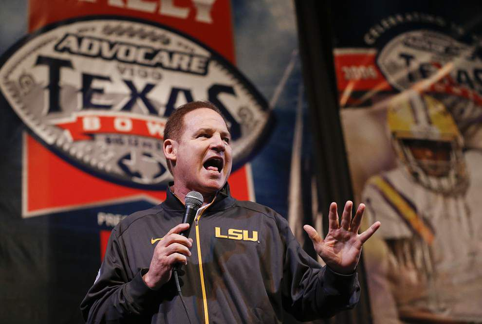 Photos: LSU cheerleaders, coach Les Miles, players lead crowd at Tigers' pep rally before Texas Bowl _lowres