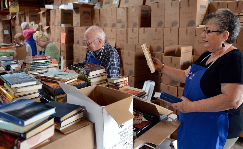 Books by the thousands readied for annual sale to benefit symphony _lowres