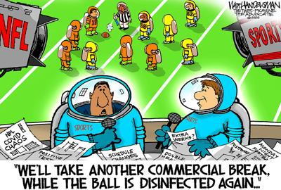 Walt Handelsman: NFL Pandemic Problems