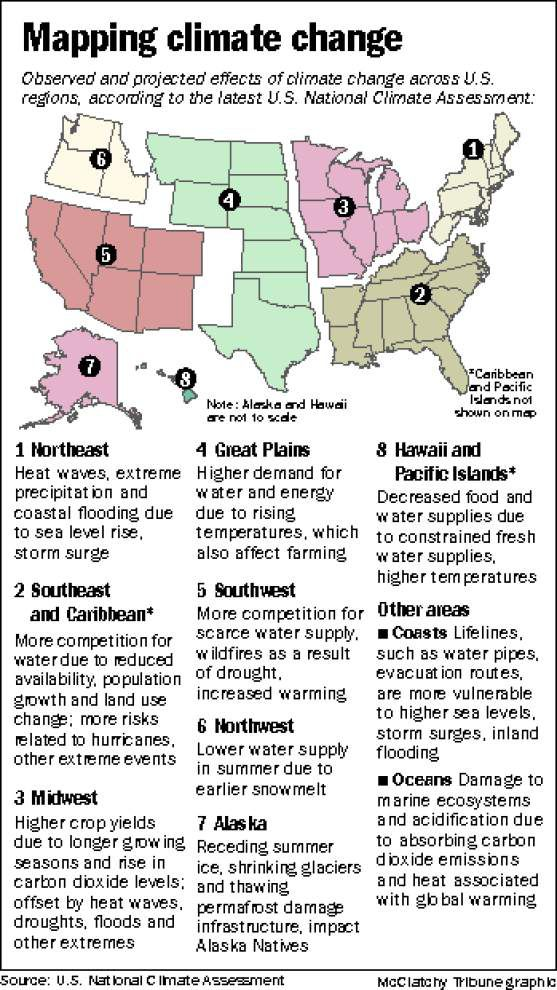 Report: Greenhouse gas impacts evident on coastal Louisiana _lowres