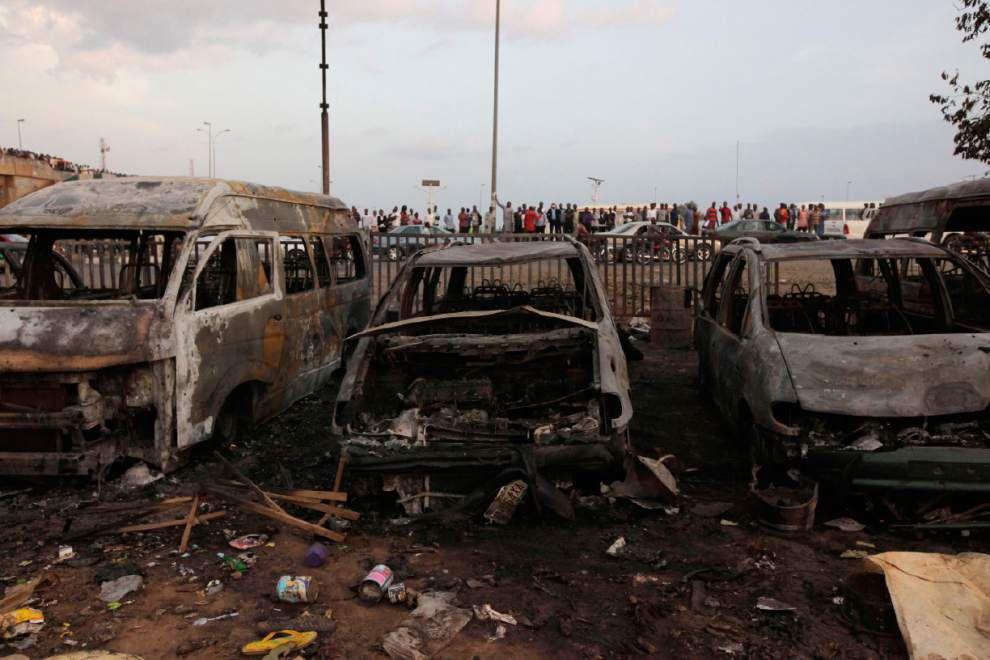 Police: Blast in Nigerian capital kills 71 _lowres