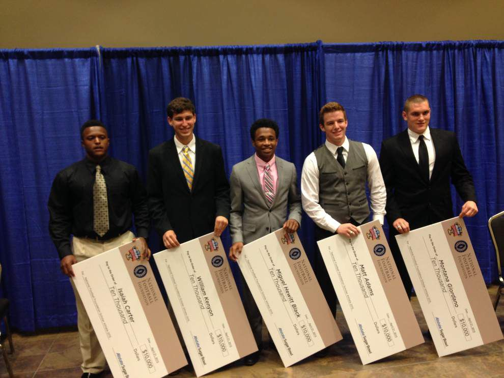 Walker: Life's tough lessons haven't deterred Sugar Bowl scholarship winners _lowres