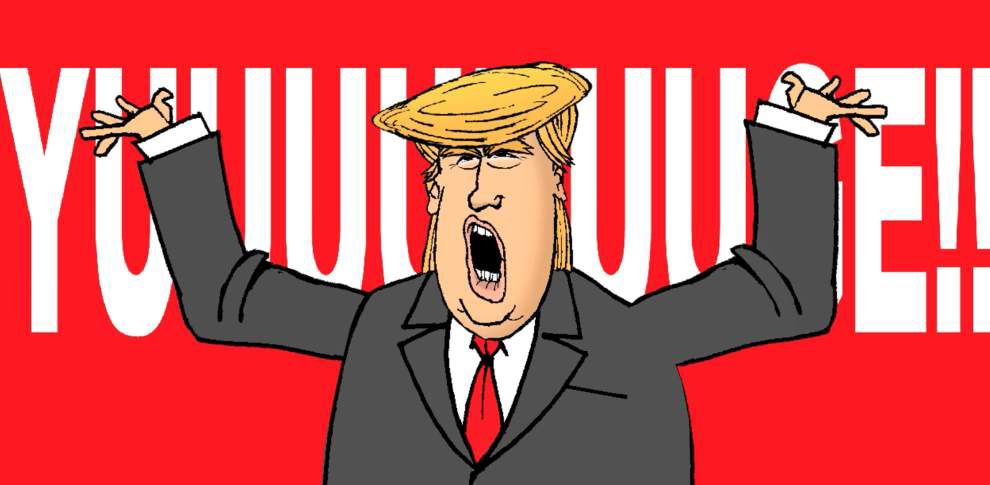Donald Trump like you've never seen him! He's 'the pitchman' in this Walt Handelsman animation _lowres