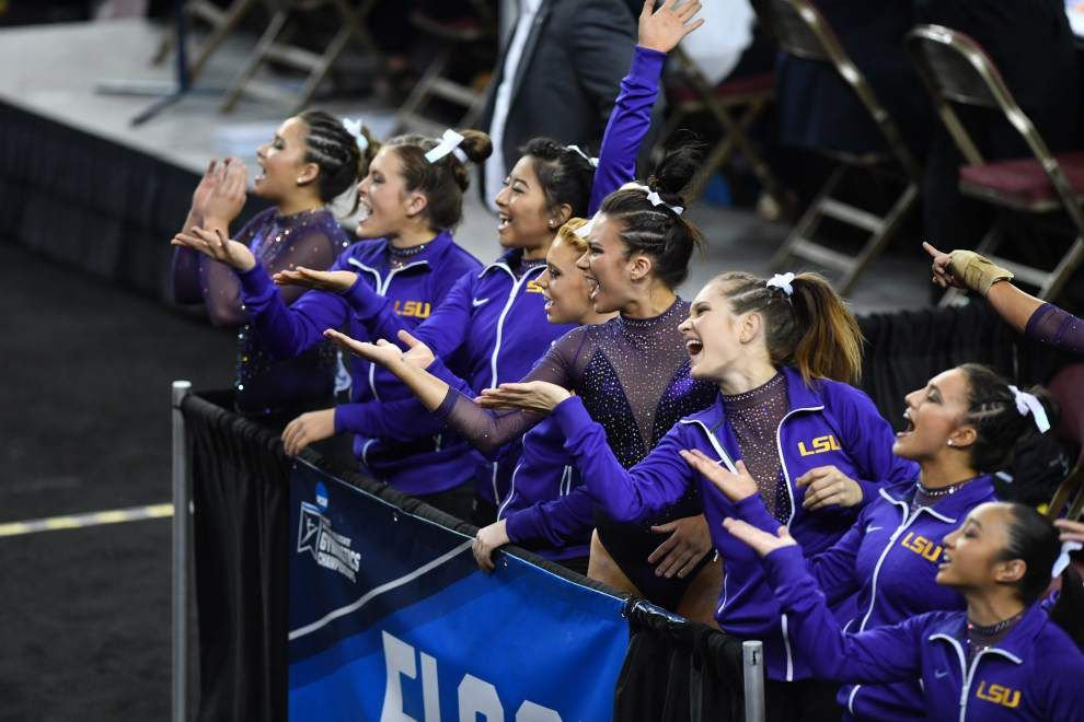 Second to none: LSU gymnastics team finishes second at NCAA's Super Six, the best finish in program history _lowres