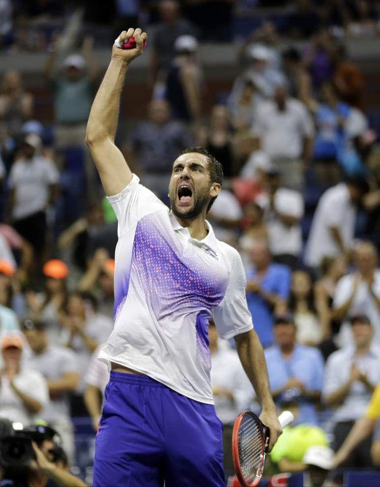 Reigning U.S. Open men's champ Marin Cilic edges Jo-Wilfried Tsonga _lowres