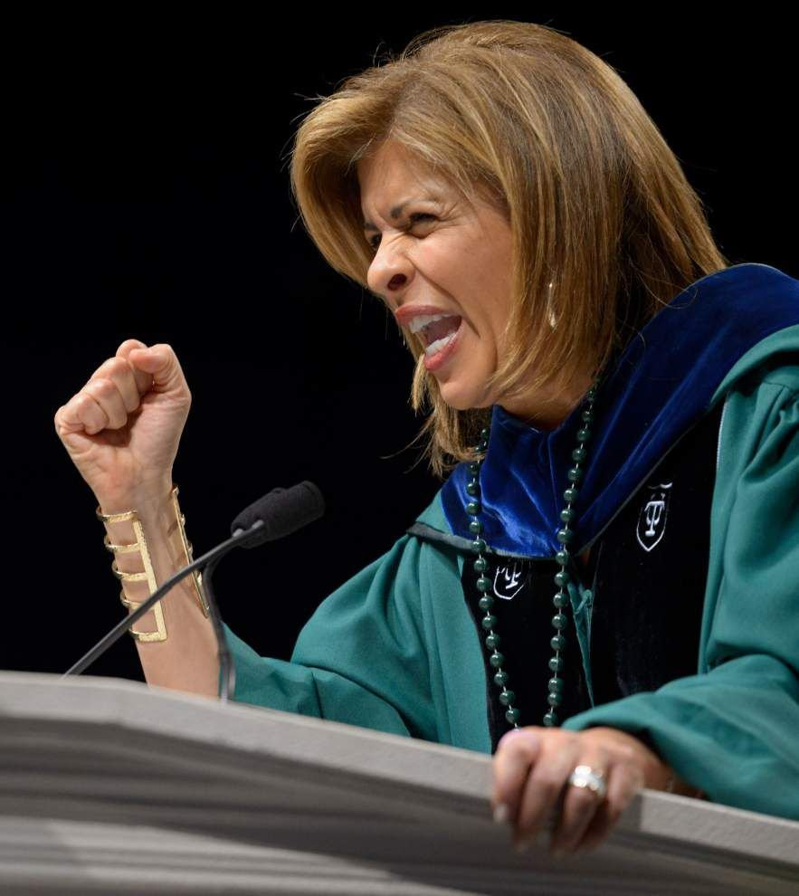 'It's your house': Hoda Kotb mixes jokes with sentiment in celebrating Tulane commencement _lowres