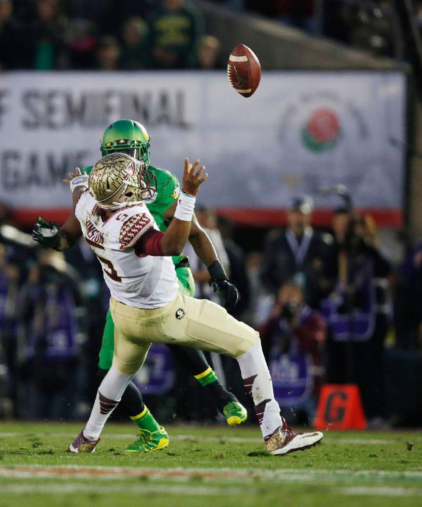 Oregon routs Florida State 59-20 in Rose Bowl, will face Ohio State in first College Football Playoff title game _lowres