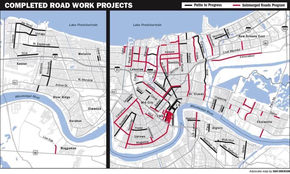 Major post-Katrina road reconstruction programs in New Orleans have been completed, officials announce _lowres