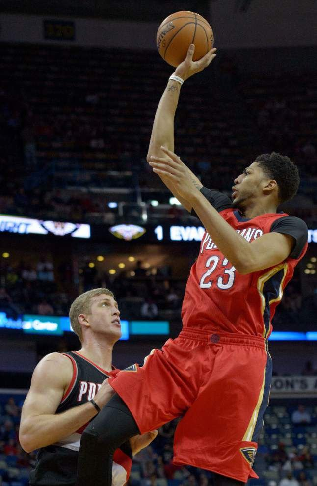 Pelicans make home court count, beat Blazers 115-89 _lowres