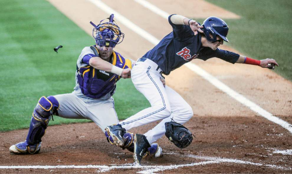 LSU baseball tests 'one of the best arms in the league;' Ole Miss center fielder passes in Tigers' 1-run loss _lowres