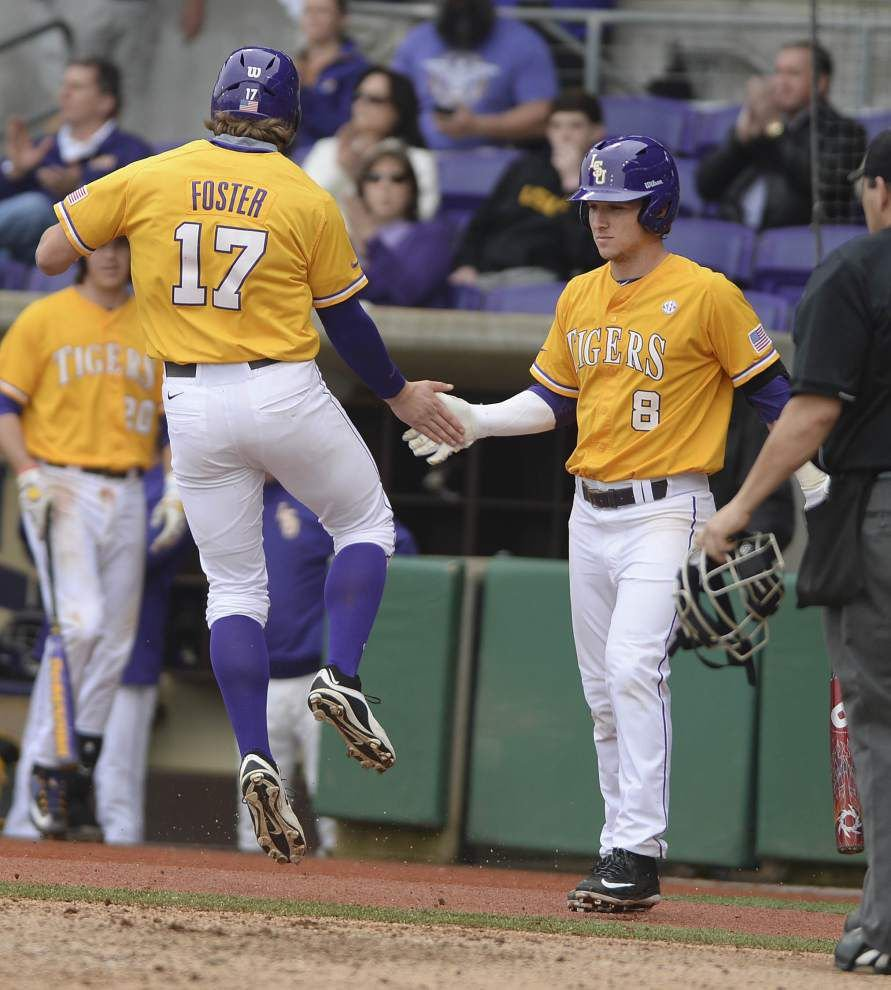 Ross Dellenger: How long will Jared Foster remain in LSU baseball lineup; what would an LSU football battling order look like? _lowres