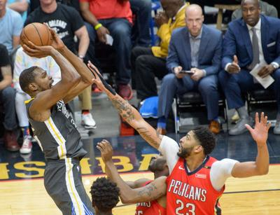 5446e559a51 Warriors adopted megastar Kevin Durant  brilliant  in Game 4 ...