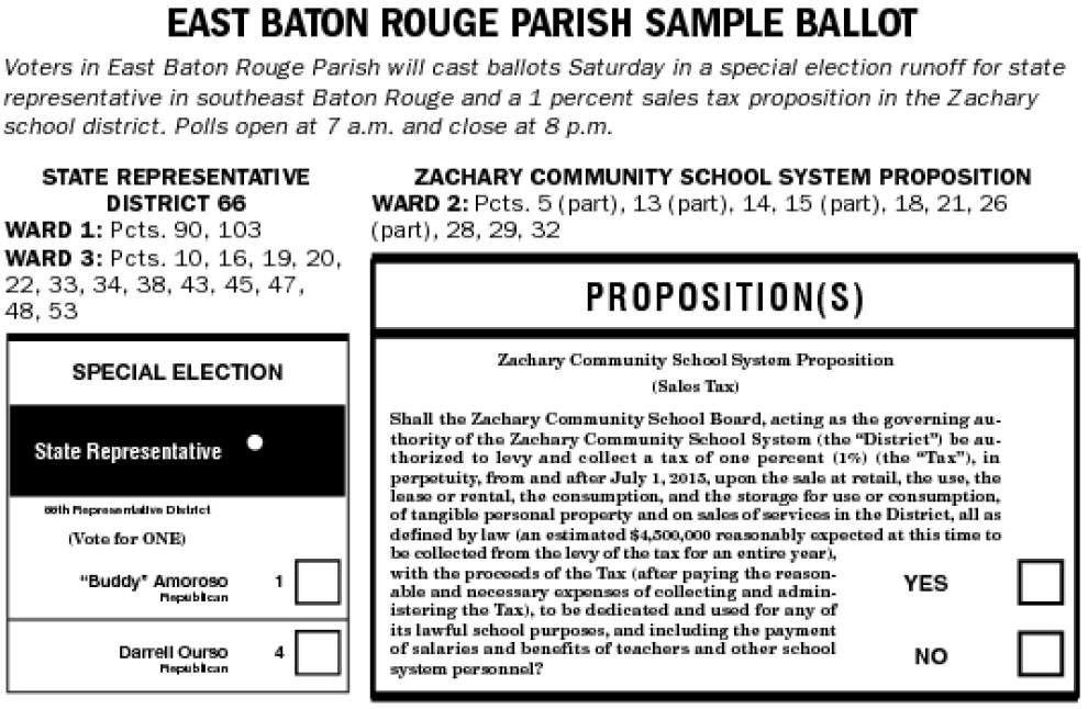 Elections this Saturday in East Baton Rouge, West Baton Rouge, Ascension and Iberville parishes _lowres